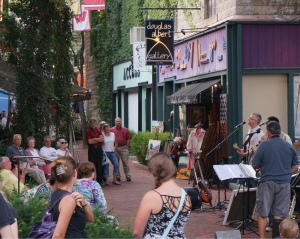 Music near Calder Way in downtown State College, PA